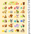 Kids Beautiful Cartoon Alphabet on Animal Examples 62511739