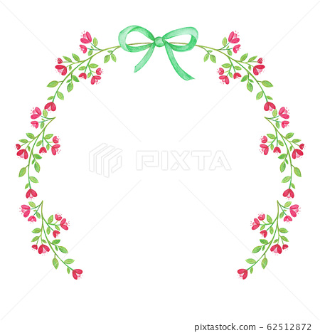 Watercolor Floral Wreath For greeting card 62512872