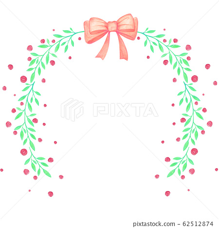 Rose Frame Ribbon Wedding Romantic Nature Illustration 62512874