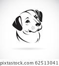 Vector of a dog head design. Animals. Pet. 62513041