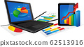 Laptop and Tablet with Statistics chart 62513916