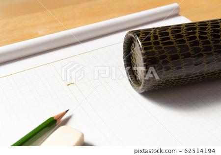 手稿紙文憑圓柱方格教育畢業論文 62514194