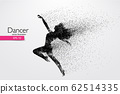 Silhouette of a dancing girl. Dancer woman. Vector illustration 62514335