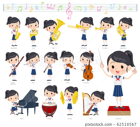 school girl Sailor suit summer_classic music 62518567