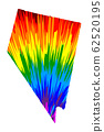 Nevada - map is designed rainbow abstract colorful 62520195