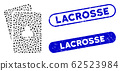 Elliptic Mosaic Clubs Playing Cards with Textured Lacrosse Watermarks 62523984