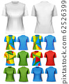 Colorful abstract women t-shirts. Design template. 62526399