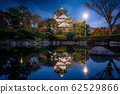 Park in Osaka castle on night time 62529866