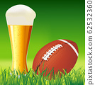 American football ball on grass  American football 62532360