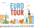 Euro Tour Excursion with Famous Landmark Design 62532948