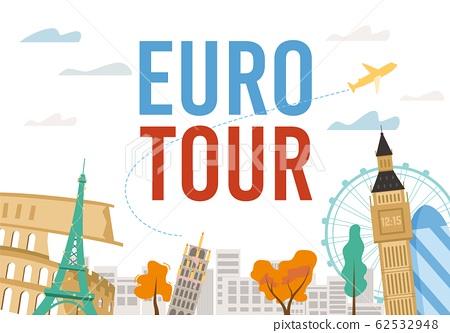 Euro Tour Excursion with Famous Landmark Design 62532948