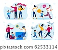 Family Party, Child Discipline Training Vectors 62533114