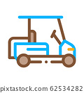 Caddy Golf Car Icon Vector Outline Illustration 62534282