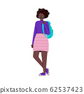 African american woman university student cartoon vector illustration isolated. 62537423