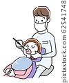 일러스트 소재 : 치과에서 치료를받는 여성 62541748
