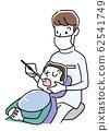 일러스트 소재 : 치과에서 치료를받는 남성 62541749