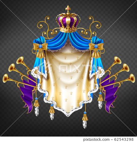 Royal dynasty house emblem 3d realistic 62543298