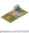 Shopping center and stadium isometric 62543299