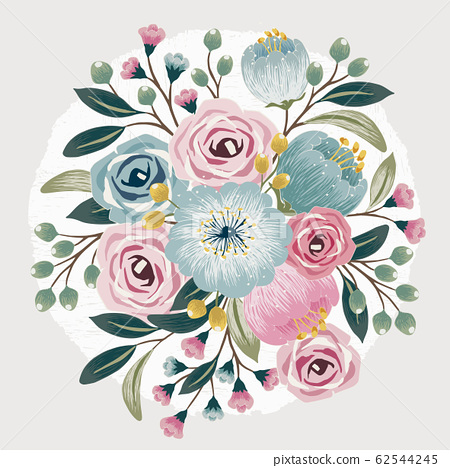 Vector illustration of a floral bouquet in spring 62544245