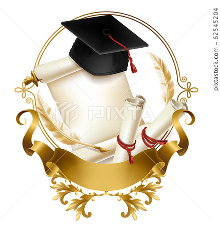 Graduation diploma or certificate realistic 62545204