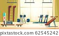 City sport club gym interior cartoon 62545242
