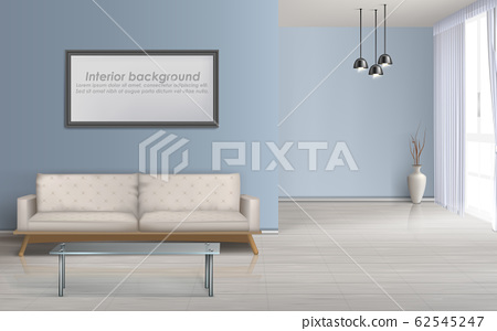 Spacious living room realistic background 62545247