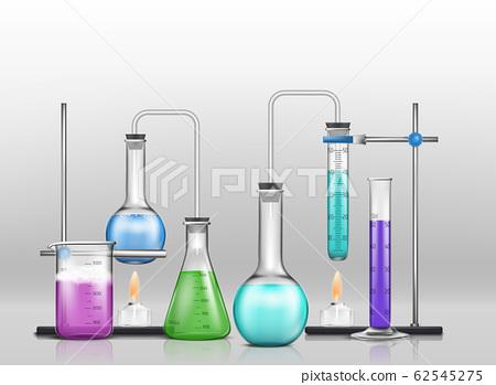 Chemical laboratory experiment cartoon 62545275