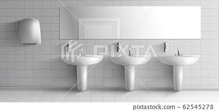 Public toilet interior realistic mock-up 62545278