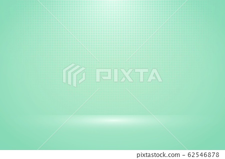 Abstract soft green mint mock up display background with halftone decoration artwork.  62546878
