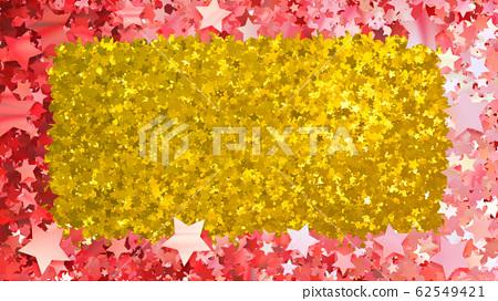 Glitter star star frame picture frame sequins 3d illustration background 62549421