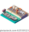 Petroleum transporting by ship isometric 62550523