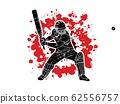 Cricket player action cartoon sport graphic vector 62556757