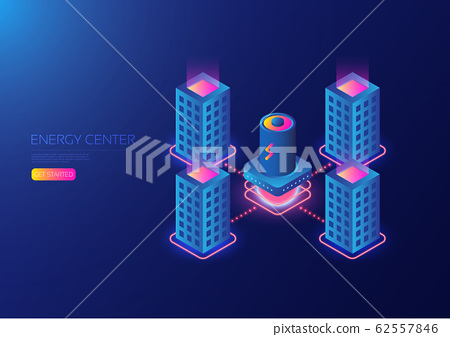 Isometric power plant 62557846