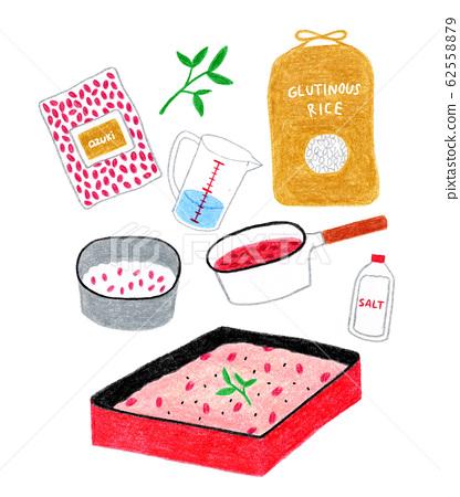 如何製作紅米飯圖 62558879