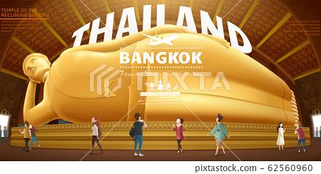 Thailand reclining buddha 62560960
