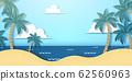 Paper art resort beach background 62560963