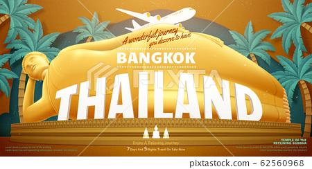 Thailand reclining buddha 62560968