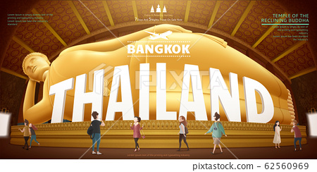 Thailand reclining buddha 62560969