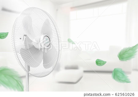 Stand fan moving the air 62561026