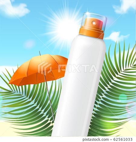 Blank sunscreen spray bottle 62561033