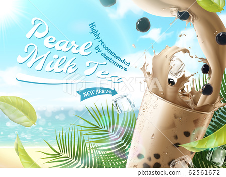 Pearl milk tea ads 62561672