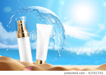 Sunscreen product ads 62561742