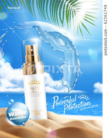 Sunscreen product ads 62561749