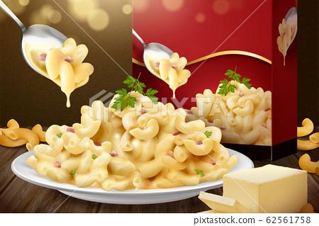 Delicious macaroni ads 62561758