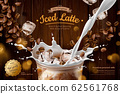 Iced latte with milk ads 62561768