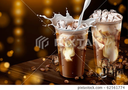 Iced latte with milk ads 62561774