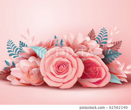 Paper rose flower decorations 62562140