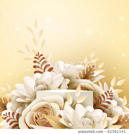 Paper rose flower decorations 62562141