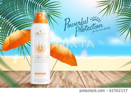 Sunscreen spray ads 62562157