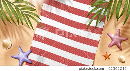 Relax summer beach scene 62562212